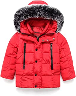 Tronet Baby Winter Warm Coat Boys and Girls Children's Korean Version of The Down Cotton Padded Hooded Zipper Coat