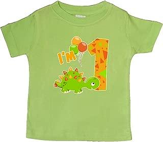 inktastic Happy Dinosaur First Birthday-Green Baby T-Shirt