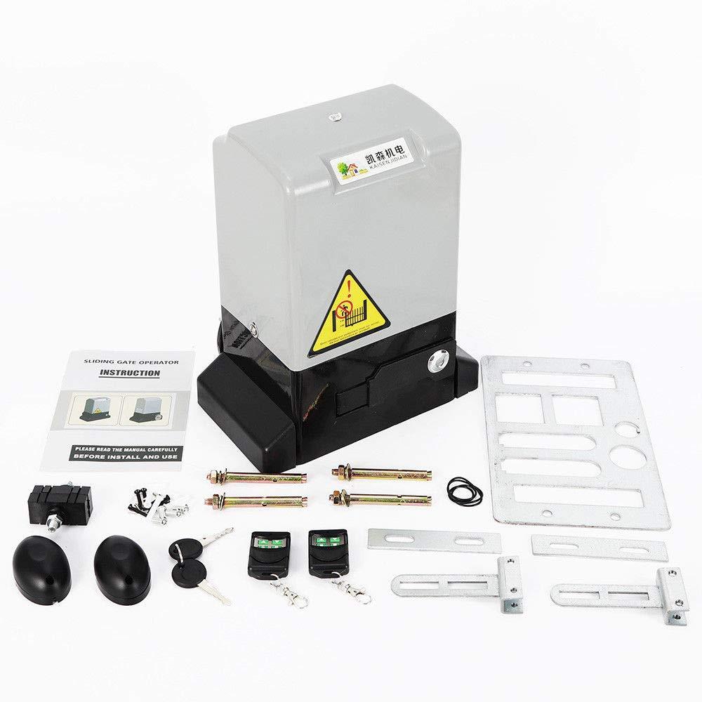 RANZIX Elektrischer Schiebetorantrieb Tor/öffner 2000KG//1200KG Torantrieb Tor Antrieb Fernbedienungen mit 2 Fernbedienungen 1200KG // 550W