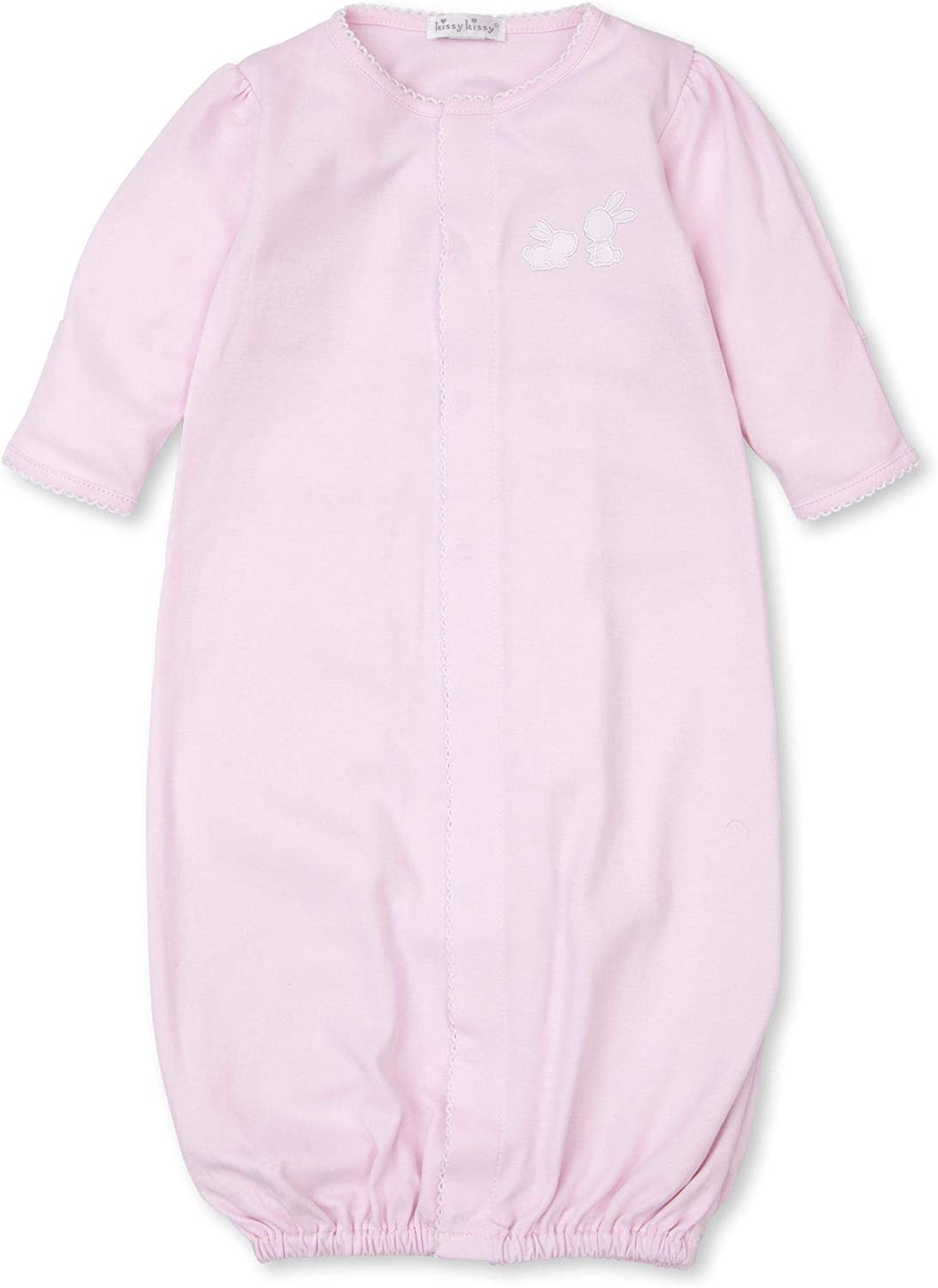 Kissy Kissy Baby-Girls Infant Pique Bunny Fam Convertible Gown