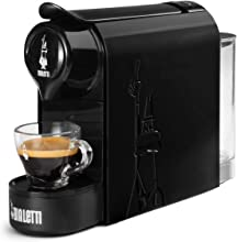 Bialetti Gioia, Macchina da Caffè Espresso per Capsule in Alluminio sistema Bialetti il Caffè d'Italia, Supercompatta, Nero