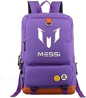 Asdfnfa Backpack, Student School Men and Women Rucksack Nylon Waterproof Travel Package Schoolbags (Color : Purple)