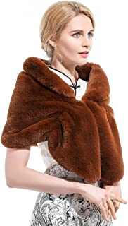 Roniky Large Warm Faux Fur Shawl Wrap Stole Shrug Winter Wedding Cover Up (SALE!!)