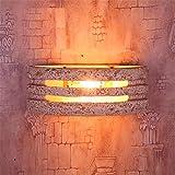 BOOTU Applique LED su e giù per lampade da muro Testata del letto muro luce mediterranea realistico di modellazione Luce di pietra in soggiorno, in camera da letto 3029 luci, grandi w43.2xh17.2cm