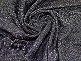 Minerva Crafts Stoff aus Wolle und Seide, Marineblau/Braun
