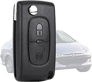 TOOGOO Reemplazo 2 botones Entrada sin llave Caja de llave Cascara de llave Llavero de coche remoto Cubierta de proteccion para Mitsubishi Pajero Triton Lancer Evo R Caja de llave