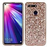 Dmtrab Phone Case for Huawei Honor View 20 Cas, Poudre de Paillettes Antichoc TPU Coque de...