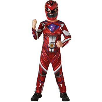 UFFICIALE Rubies Power Rangers MOVIE-Red Ranger Deluxe Costume Medio,
