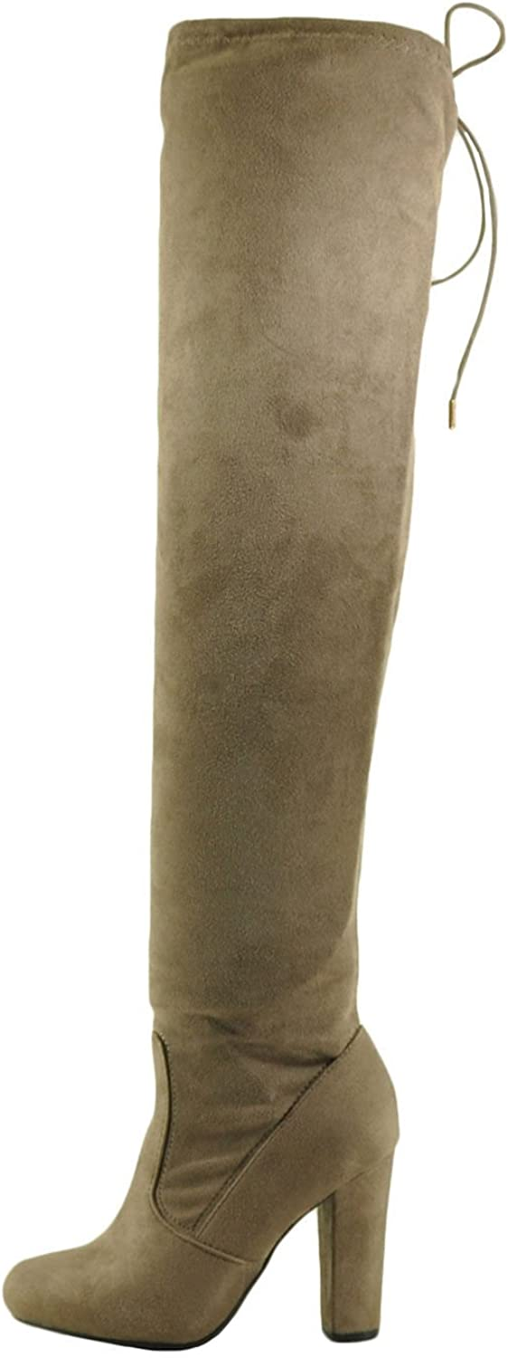 Bamboo Hilltop 20M Women's Over The Knee Stretch Zip Boot