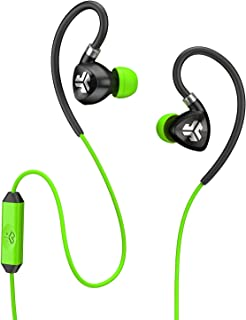 JLab Audio Fit2 Sport Earbuds Sweatproof Water Resistant with In-Wire Customizable Earhooks Guaranteed Fit GUARANTEED FOR ...