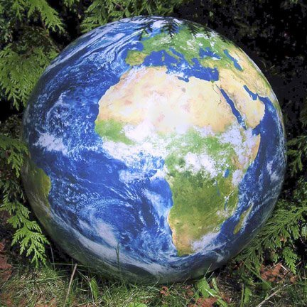 Toys Inflatable Earth Ball w/Glow in Dark Cities by Planet Earth Gifts [Toy]