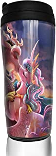 My Little Rainbow Pony Kiss Coffee Cups Travel Mug Warmer Tumbler Cup, Customize Art Water Bottle Thermos Coffee Cups With Lids 12 Oz