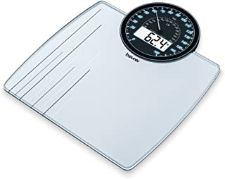 Beurer Weight Scale Glass Electronic Light Blue 180kg - GS58