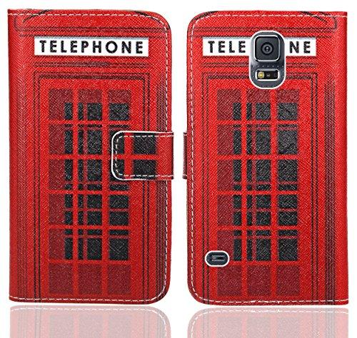 FoneExpert® Samsung Galaxy S5 / S5 Neo Handy Tasche, Wallet Hülle Flip Cover Hüllen Etui Ledertasche Lederhülle Premium Schutzhülle für Samsung Galaxy S5 / S5 Neo (Pattern 12)