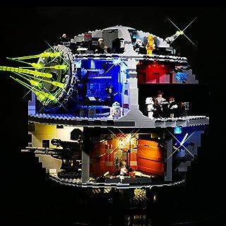 Death Star 3 Star Wars Series Lighting Kit Lighting Equipment for Building Block Model, Compatible with Lego 75159 Led Lig...