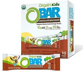 Orgain Organic Kids Energy Bar, Chocolate Brownie - Great for Snacks, Vegan, 7g Dietary Fiber, Dairy Free, Gluten Free, La...