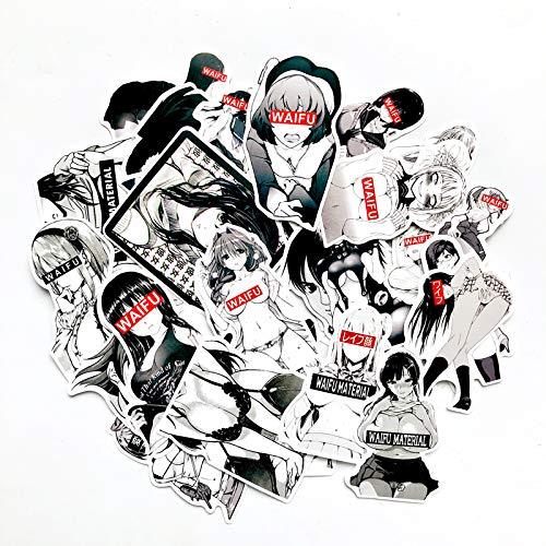 Ahegao Lust Face Waifu Premium 30-teiliges Vinyl-Aufkleber-Set