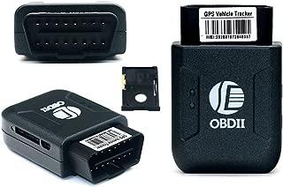 MRCARTOOL TK206 OBD GPS+GPRS+OBDII Tracker Car Vehicle Tracking System Locator Geo-fence Device GPS tracker OBD 2 Real Time GSM Quad Band Anti-theft Vibration Alarm GSM GPRS Mini GPRS tracking (Black)