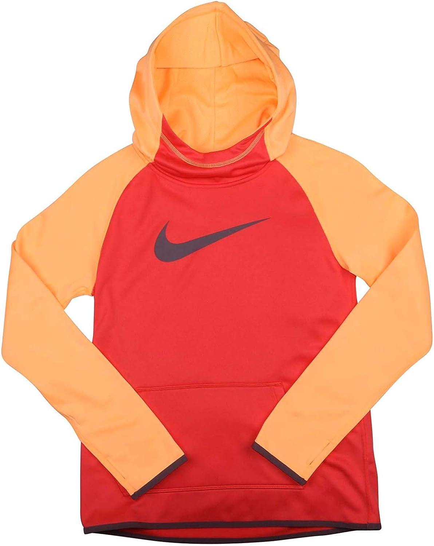 Nike Big Girls' (7-16) Dri-Fit Thermal Pullover Training Hoodie-Purple