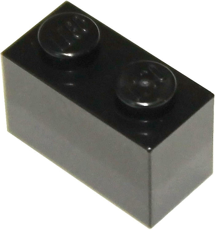 LEGO Parts and Pieces  Black 1x2 Brick x100