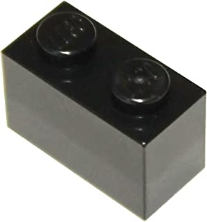 LEGO Parts and Pieces: Black 1x2 Brick x100