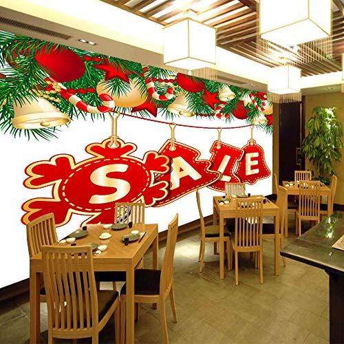 Fototapete 3D Wandbilder Für Fernseher Hintergrund Wohnzimmer 3D Tapete Effekt Vlies Wandbild Schlafzimmer Weihnachtswandbild300X210Cm