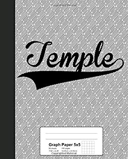 Graph Paper 5x5: TEMPLE Notebook (Weezag Graph Paper 5x5 Notebook)