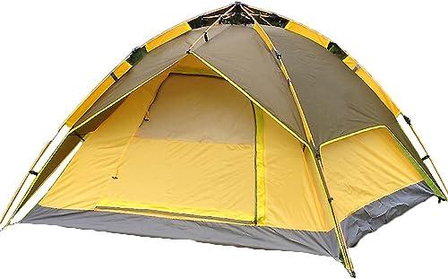 Tente Familiale,Tente Exterieure 3  4 Personnes Open De Vitesse Pique-nique De Jumeaux Portes Doubles Double Couche Avec Grands évents Champ Camping Voyage