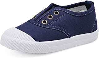 WALUCAN Kids Canvas Sneaker Slip-on Baby Boys Girls Casual Fashion Shoes