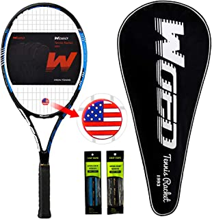 """WOED Adult Tennis Racket Perfect for Beginner and Professional Players, 27"""" Speed Tennis Racquet Include 2 Overgrips, Tennis Bag, Vibration Dampe, Cover"""