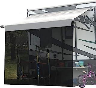 Shadeidea RV Sun Shade Screen for Awning - 8' X 12' 5'' Black Mesh Sunshade Motorhome Camping Trailer UV Sunblocker Canopy Sunscreen Offer 3 Years Warranty