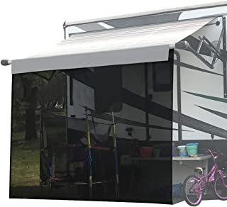 Shadeidea RV Sun Shade Screen for Awning - 6' X 8' 5'' Black Mesh Sunshade Motorhome Camping Trailer UV Sunblocker Canopy Sunscreen Offer 3 Years Warranty