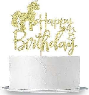 Best gold glitter unicorn cake topper Reviews