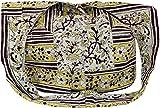 Guru-Shop Bolsa Sadhu, Bolso de Hombro, Impresión de Bloque Bolsa Hippie Hombro - Blanco / Verde / Marrón, Unisex - Adultos, Multicolor, Algodón, Tamaño:One Size, Sadhu Bolsa, la Bolsa Hippie