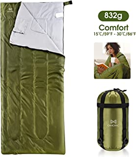 Camping Sleeping Bag - 3 Season Warm & Cool Weather - Summer, Spring, Fall, Lightweight, Waterproof for Adults & Kids - Ca...