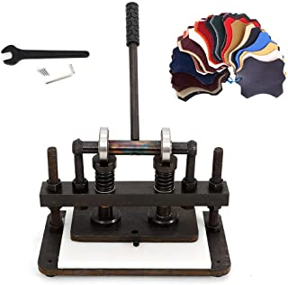 Double Wheel Manual Hand Leather Press Mould Cutting Machine Leather Die Cut Mold Cutter Machine 26x12cm Paper PVC Sheet Punch Cutter USA Stock