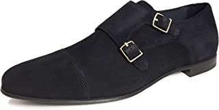Zara Men Blue leather double monk strap shoes 2422/002/010