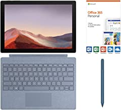 "$954 » Microsoft Surface Pro 7 2-in-1 12.3"" Touchscreen Tablet 2736x1824, 10th Gen i5, 8GB RAM, 128GB SSD, Quad-Core, USB-C, Backlit, Webcam, Win 10 w/Office 365 Personal, Type Cover, Surface Pen - Ice Blue"
