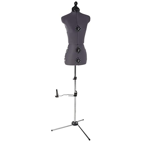 51.2/'/'-66.2/'/' Adjustable Height Non-Straight Pinnable for Pants Clothing Dress Jewelry Display Giantex Female Mannequin Torso Body Dress Form with White Adjustable Tripod Stand White