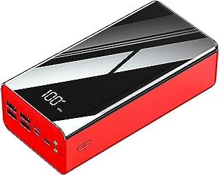 Power Bank 80000 mah bärbar laddare, bärbar batteriladdare med LCD digital display, 3 ingångar 4 USB-utgångar med 2 fickla...
