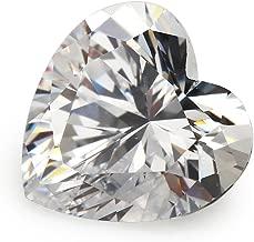 Alone Moon Automaticmachinecutting resplendent grade heart-shapedwhite cubic zirconia loose gemstones 5x5mm 80pcs