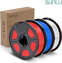 SUNLU PLA Plus Filament 1.75mm 3D Printer 3D Pens 3KG PLA+ Filament +/- 0.02 mm,White+Red+Blue