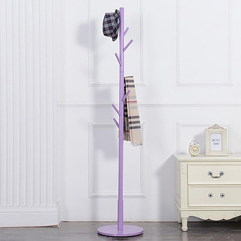 Coat Stand,Housewares Standing Coat and Hat Rack Wooden Creative Storage Shelves Hanger,9 colors (color   I)