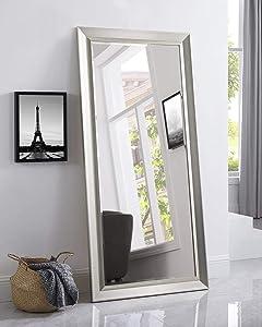 Naomi Home Framed Bevel Leaner Mirror Champagne/66 x 32