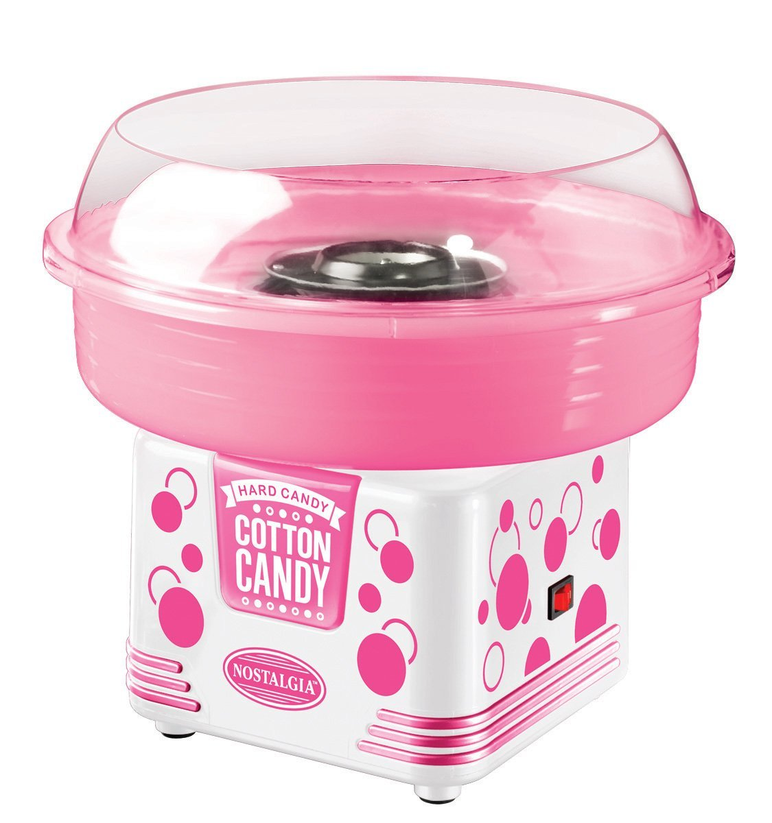 Nostalgia Electrics PCM405WMLN Cotton Candy Maker, Pink/White by ...