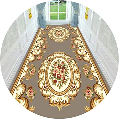 Hallway Runner Rug Long Runner Rugs Corridor Carpet Geometric Nordic Style 7MM Thickness Suitable for Living Room Corridors and Stairs Can Be Cut (Color : A, Size : 1X4M)