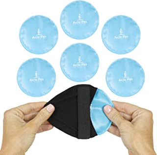 Arctic Flex XL Round Ice Pack (6 Count) - Soft Gel Compression Icepack - Hot and Cold for Headache, Eye Puffiness, Wisdom Teeth, Breastfeeding Relief - Reusable for Kids, Men, Women - Flexible Pad