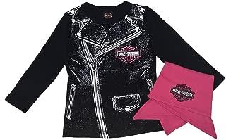 HARLEY-DAVIDSON Baby Girls' Biker Babe Tee & Doo Rag Newborn Starter Kit 2503717