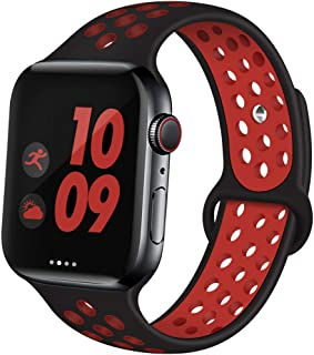 Sport Band Compatible with Apple Watch Band 38mm 42mm 40mm 44mm Breathable Soft Silicone Replacement Wristband Women and Men for iWatch Series 5 4 3 2 1 Nike+ All Various Styles