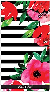 2020-2021 Classic Floral Stripe 2-Year Small Pocket Planner Calendar